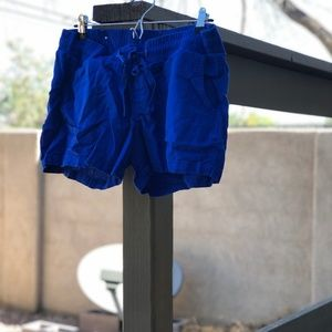 Old Navy Drawstring Linen Shorts | Royal Blue